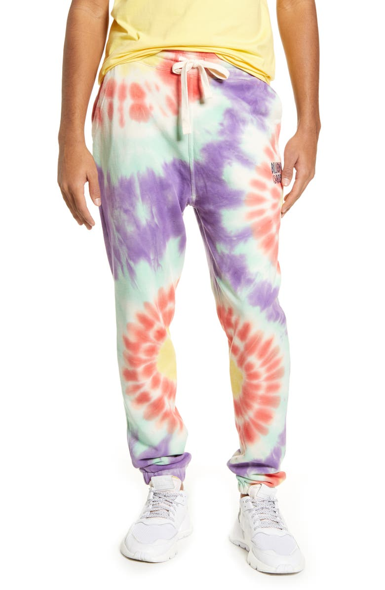 BILLIONAIRE BOYS CLUB Daylight Tie Dye Sweatpants, Main, color, LINEN