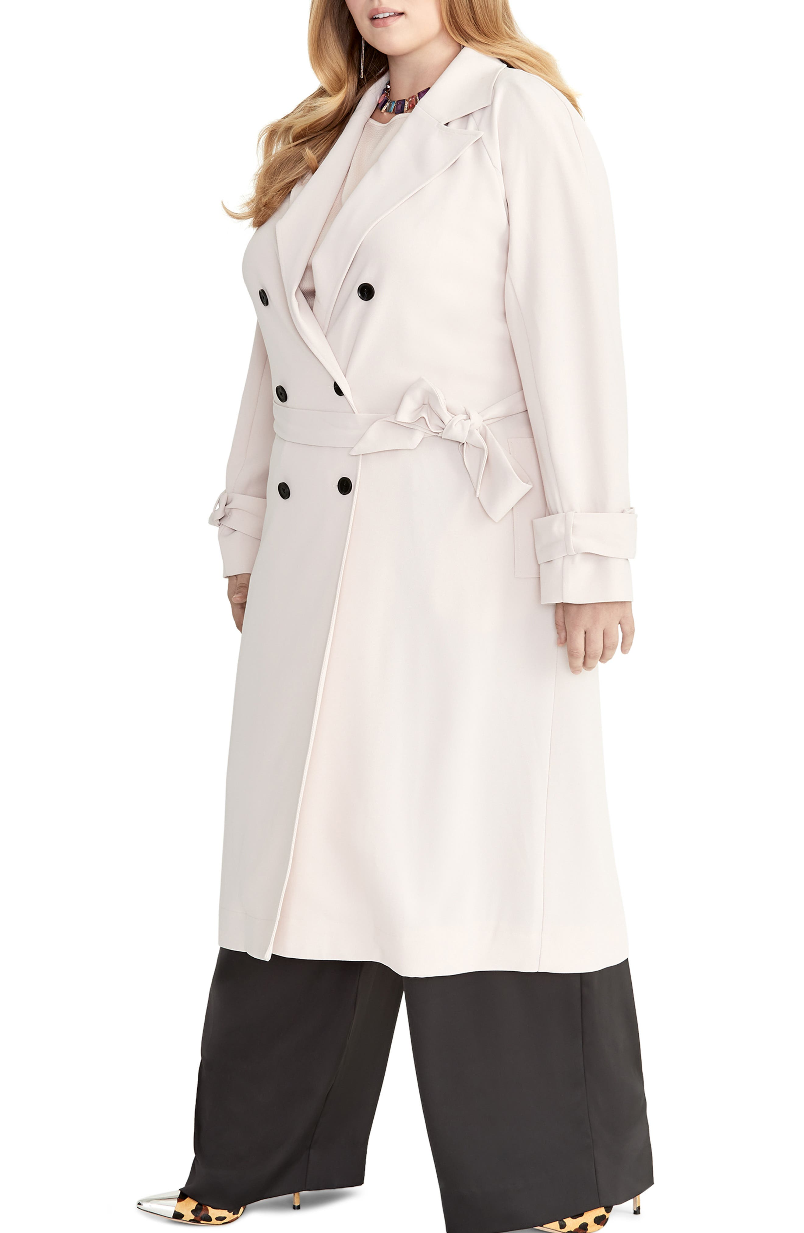 Rachel Roy Womens Cropped Trench Coat