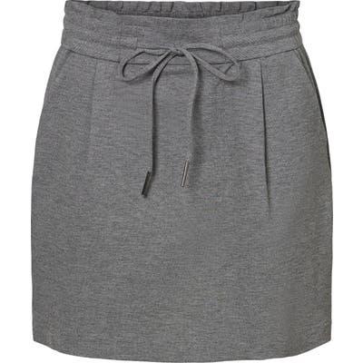 Vero Moda Meva Ruffle Miniskirt, Grey