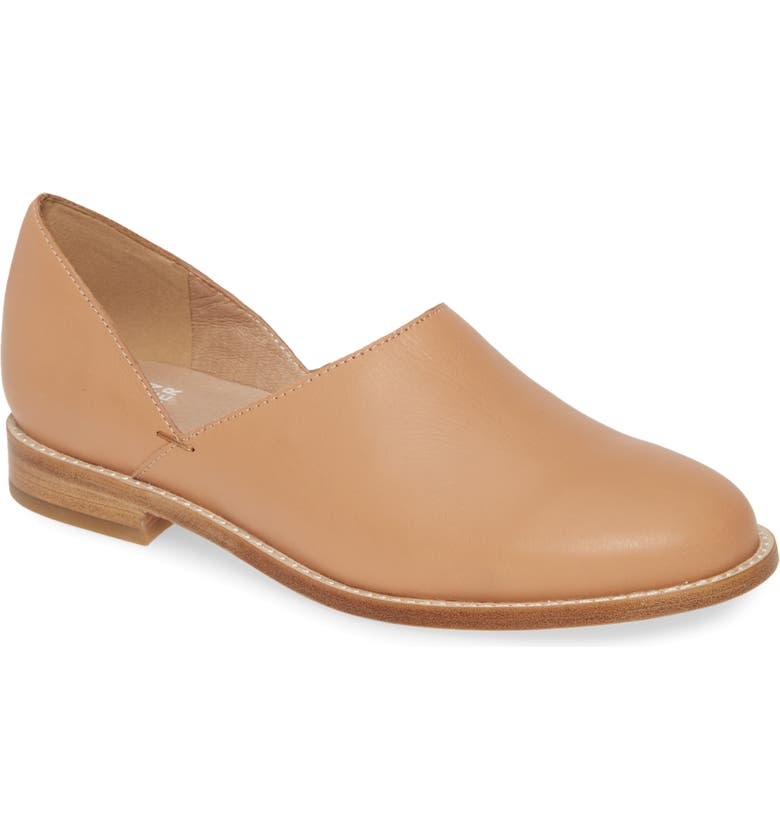 EILEEN FISHER Allan Flat, Main, color, NATURAL LEATHER