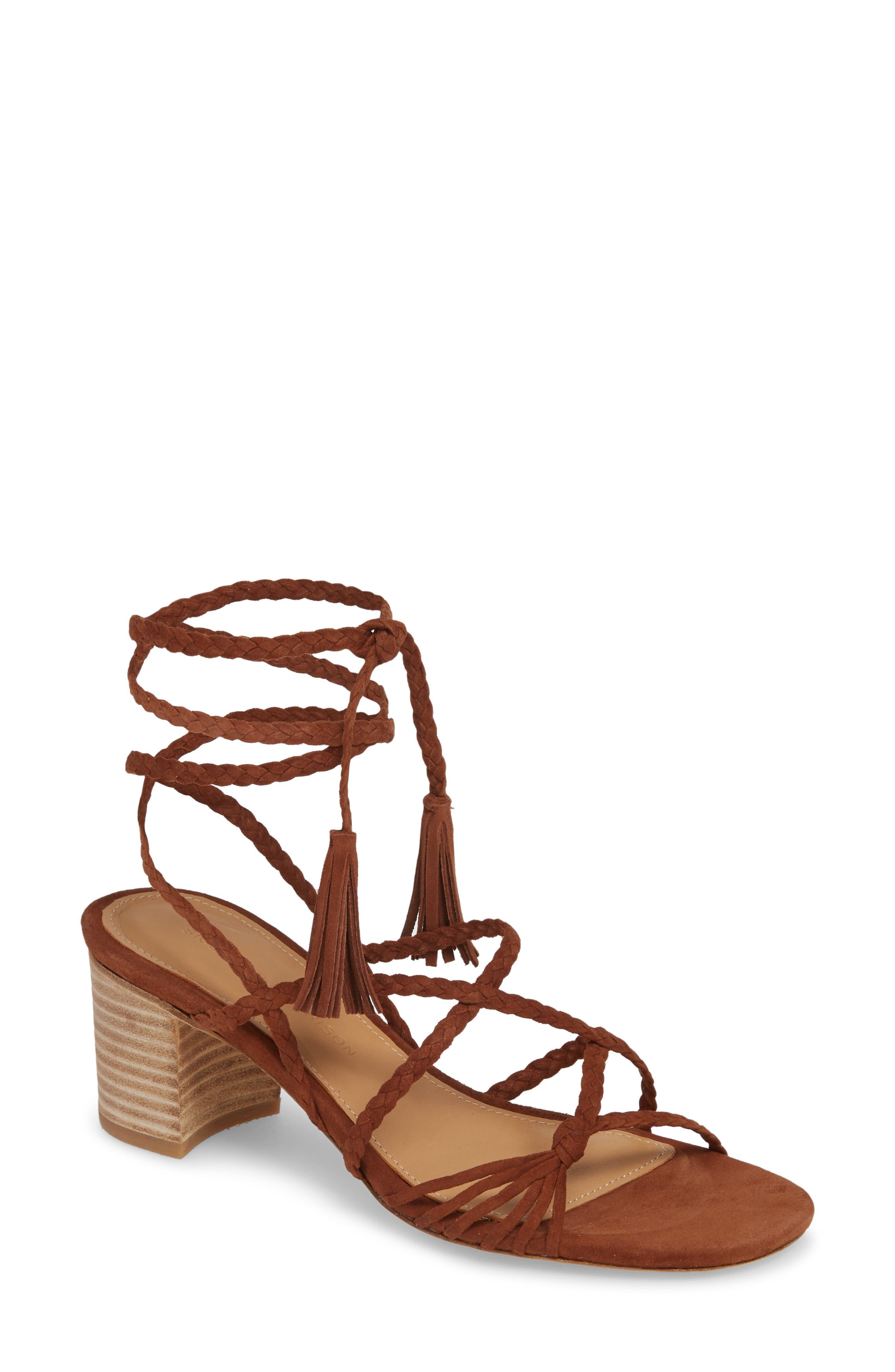 Sigerson Morrison Haize Lace-Up Sandal EU - Brown