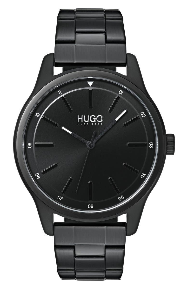 HUGO Bracelet Watch, 42mm, Main, color, 001