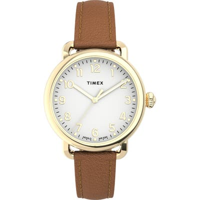 Timex Standard Leather Strap Watch,