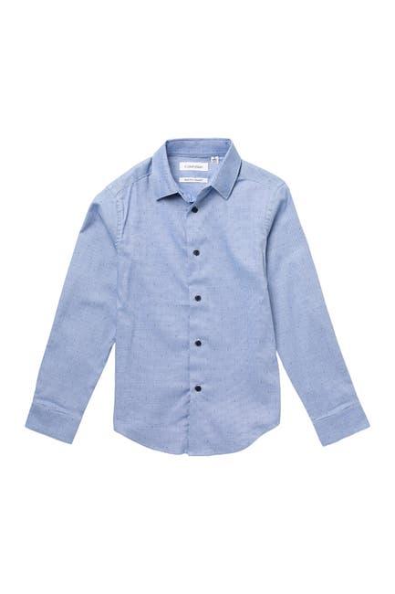 Image of Calvin Klein Long Sleeve Stretch Dress Shirt