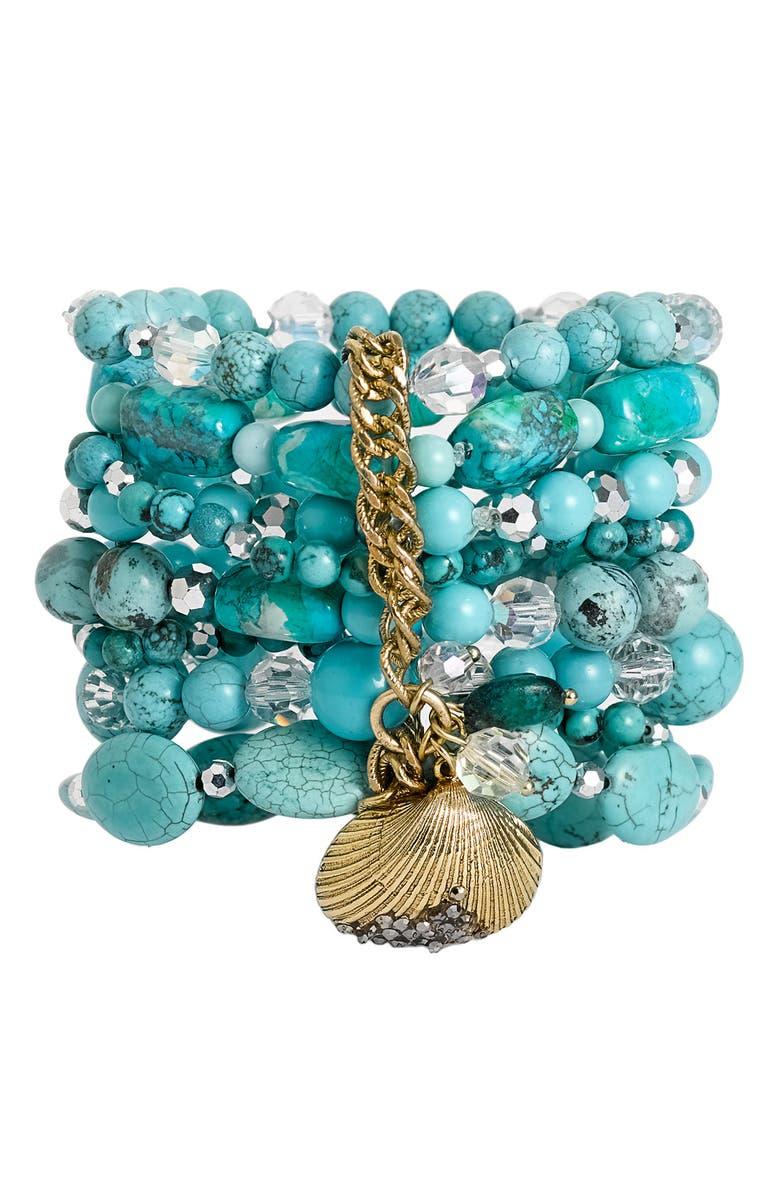 SEQUIN Multi Row Stretch Bracelet, Main, color, 440