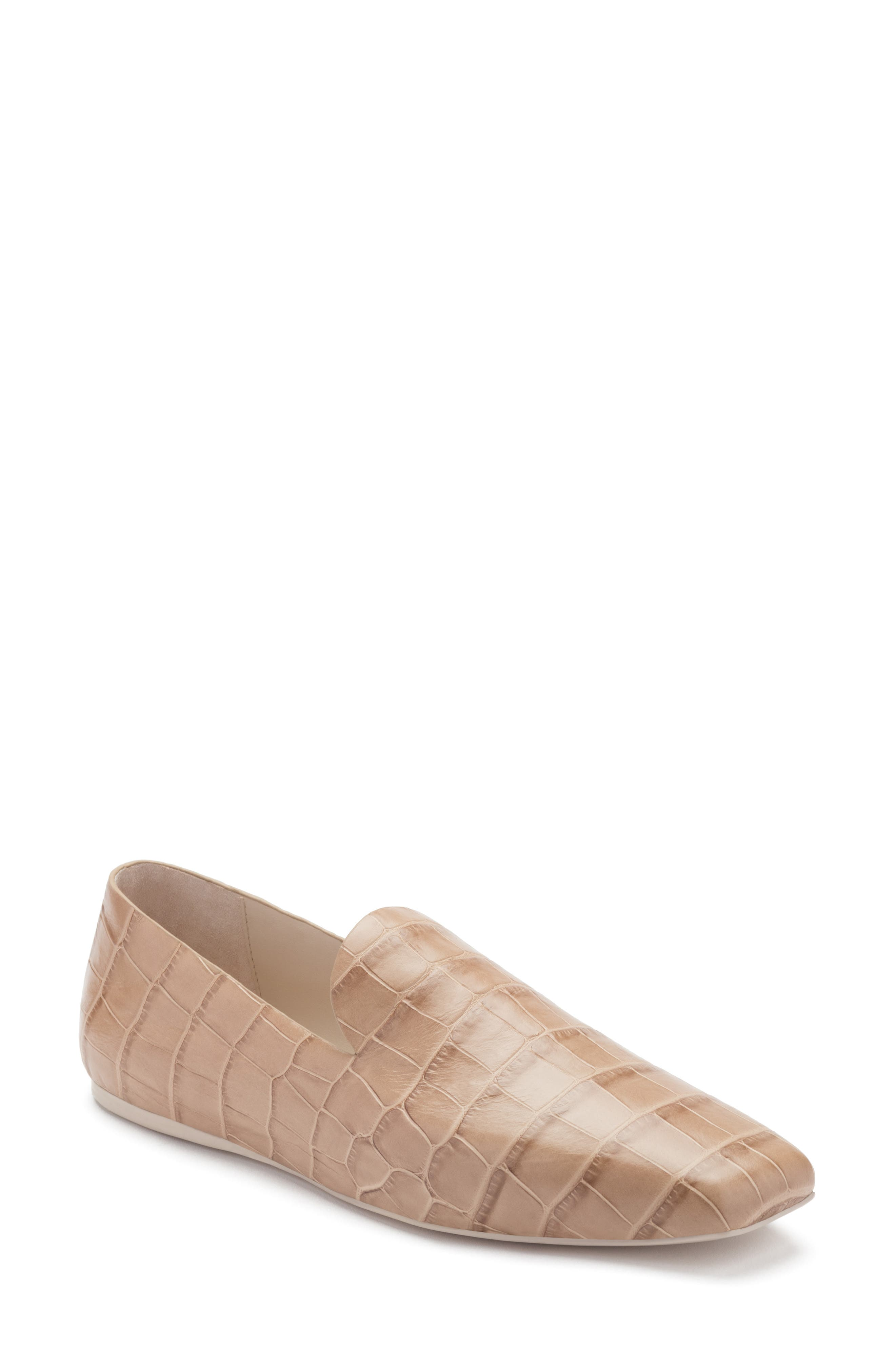 Cora Croc Embossed Flat