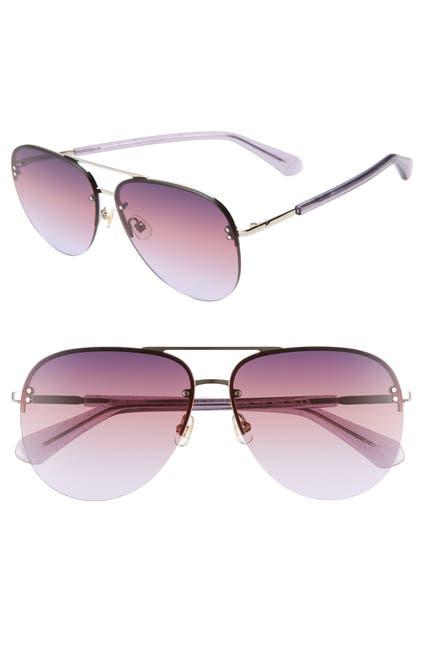 Image of kate spade new york jakaylas 62mm aviator sunglasses