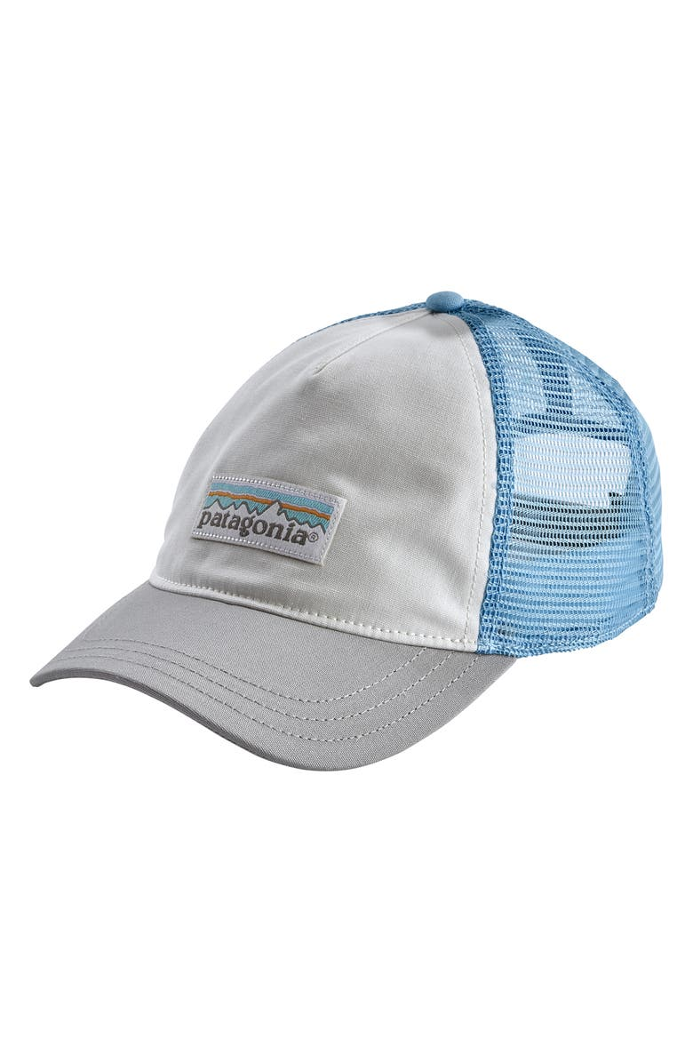 PATAGONIA Trucker Hat, Main, color, WBSE WHITE W/ BIG SKY BLUE
