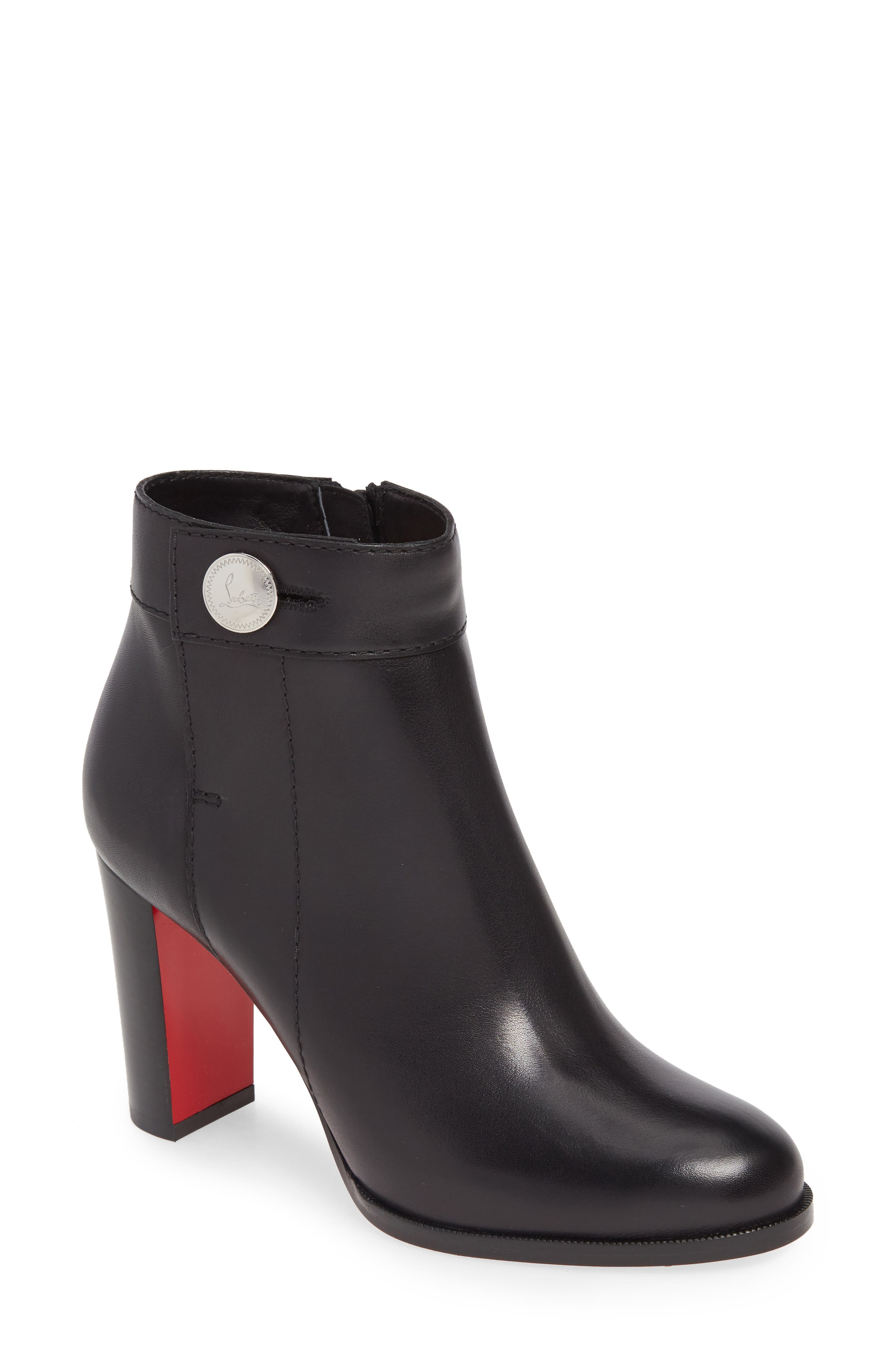 Christian Louboutin Janis Button Bootie - Black