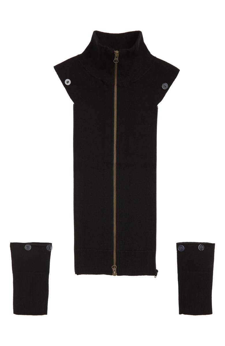 VERONICA BEARD Uptown Cashmere Dickey, Main, color, BLACK
