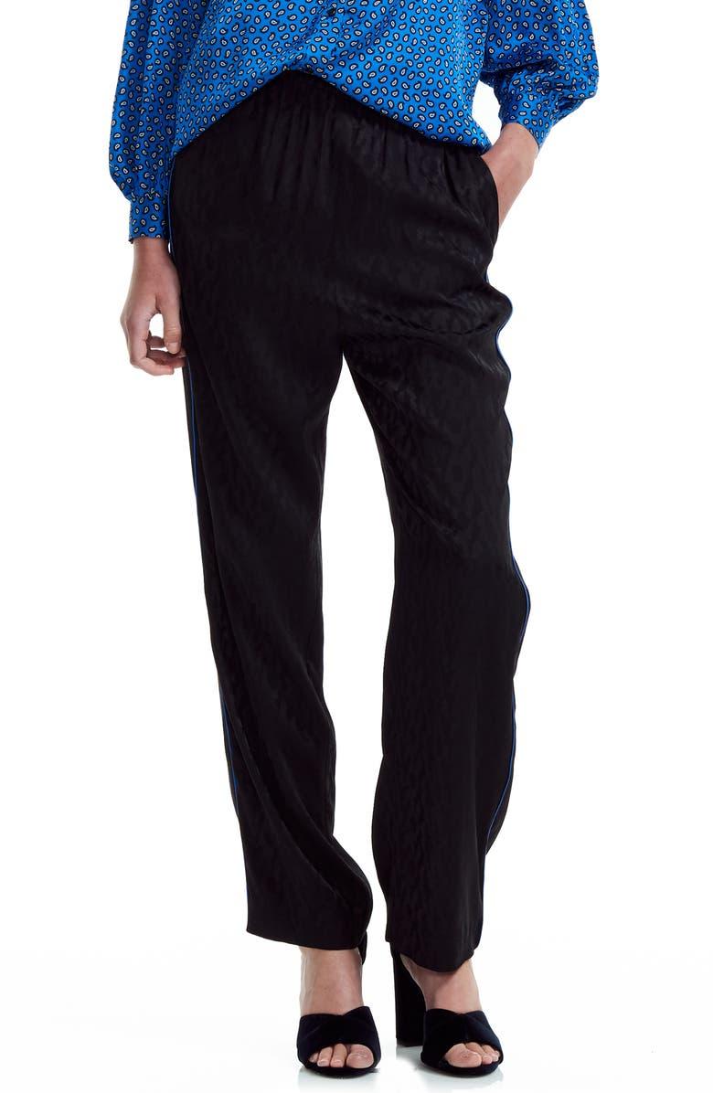 MAJE Paloma Pants, Main, color, BLACK