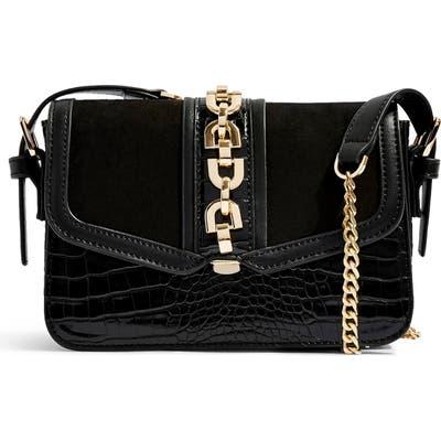 Topshop Casey Chain Crossbody Bag - Black