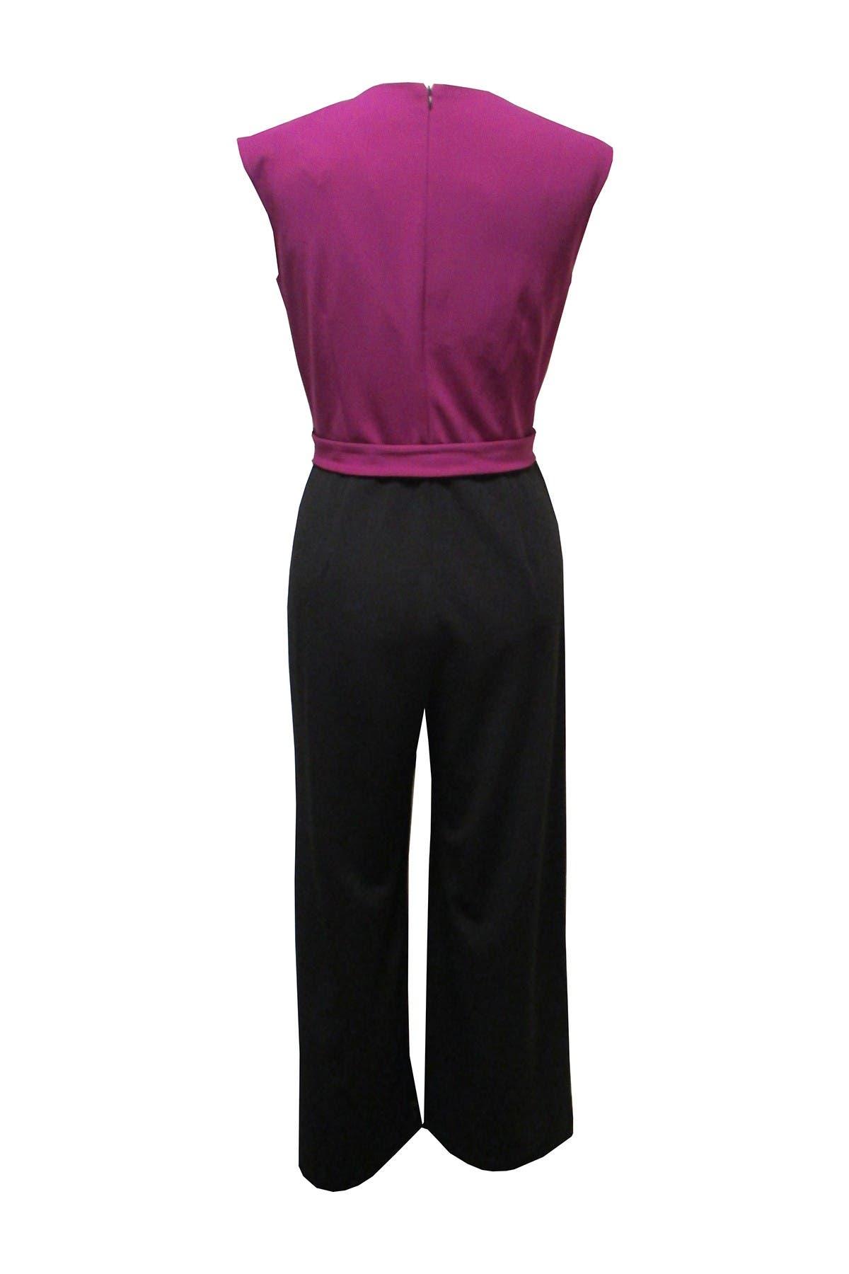 Image of Sandra Darren Colorblock Scuba Jumpsuit