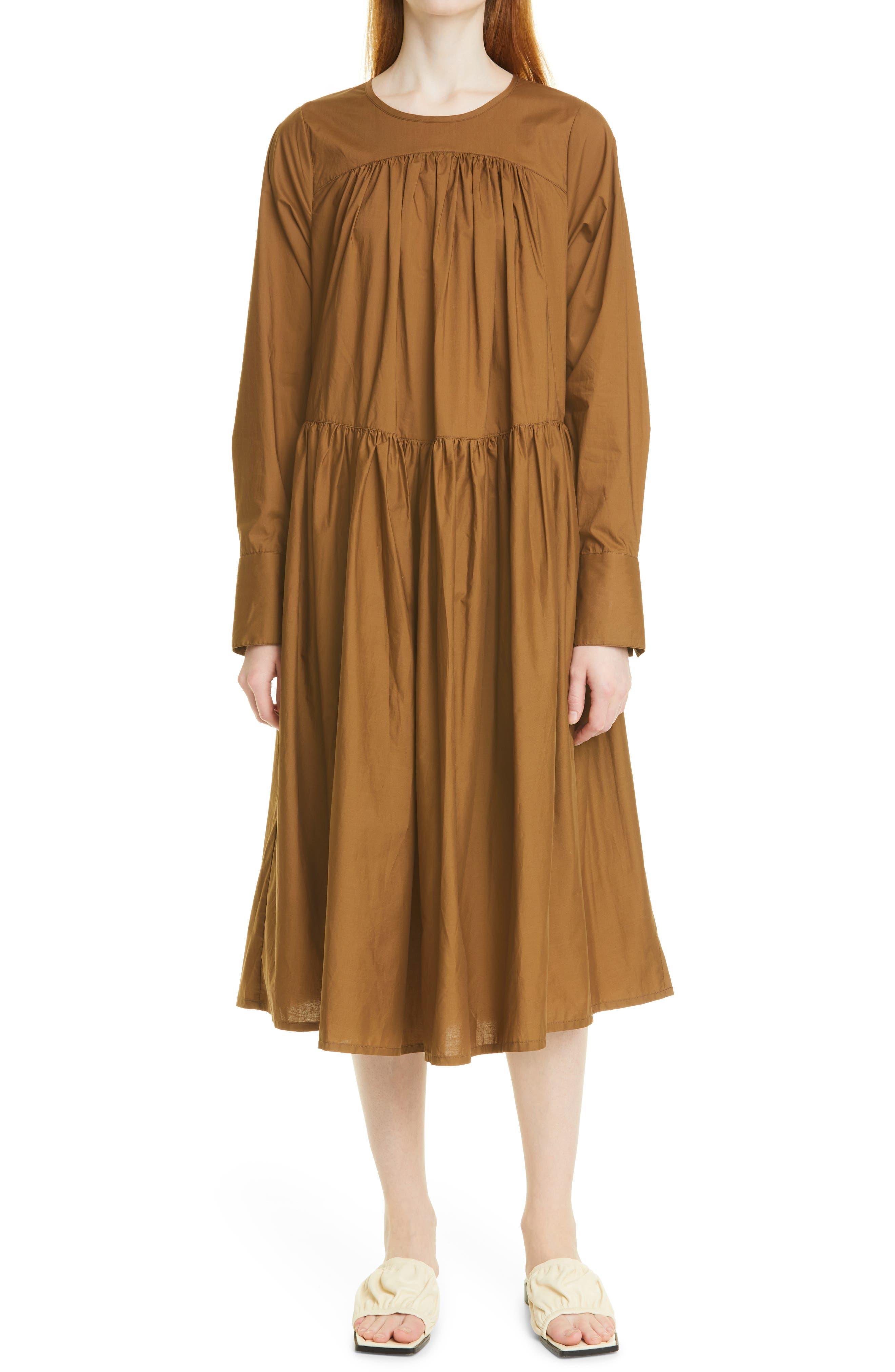 Paloma Long Sleeve Organic Cotton Dress