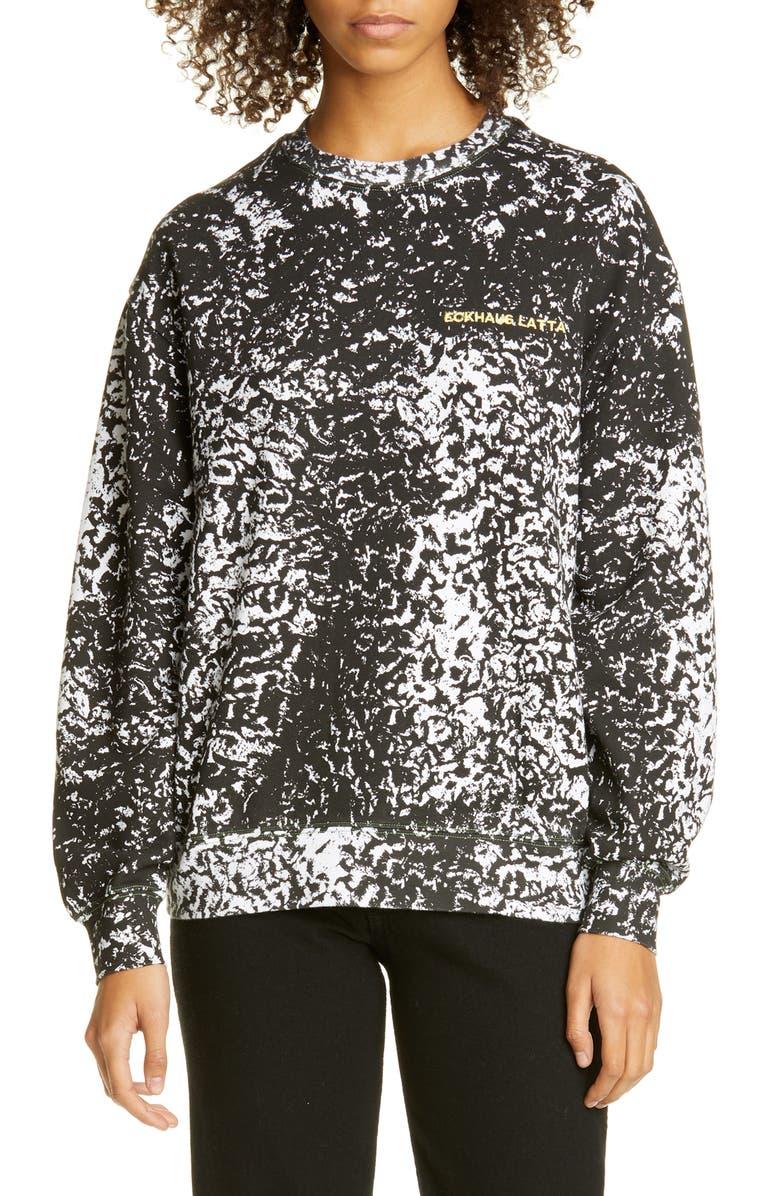 ECKHAUS LATTA Print Crewneck Sweatshirt, Main, color, ASTRAKHAN