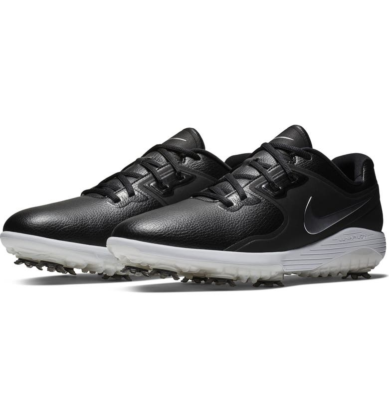 NIKE Vapor Pro Waterproof Golf Shoe, Main, color, BLACK/ WHITE/ VOLT/ GREY