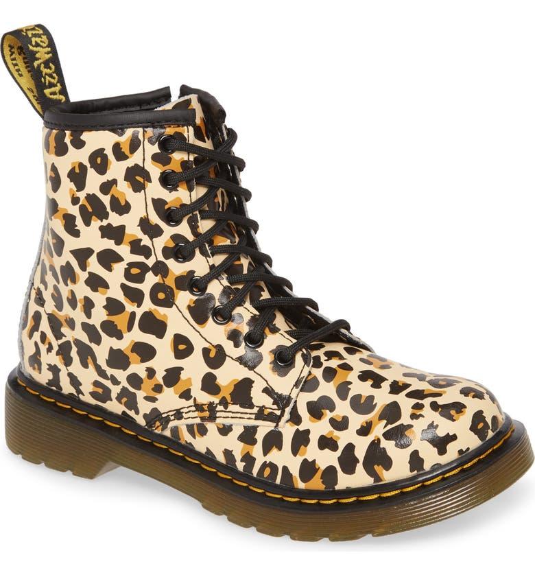 DR. MARTENS 1460 Pascal Leopard Print Boot, Main, color, LEOPARD