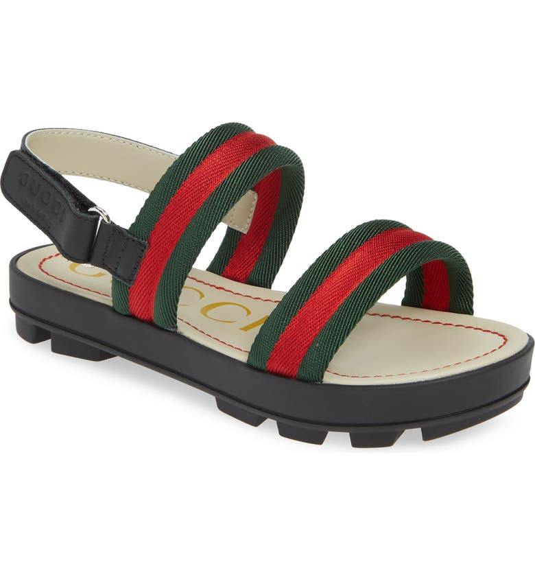 GUCCI Sam Sandal, Main, color, RED