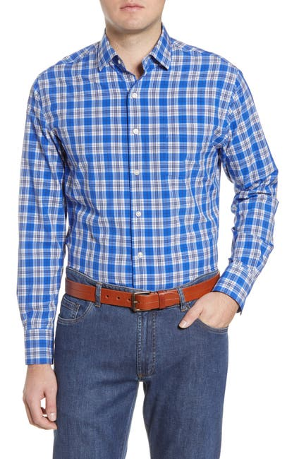 Image of Peter Millar Plaid Woven Shirt