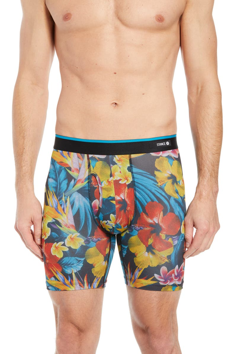 STANCE Flower Paints Boxer Briefs, Main, color, BLACK