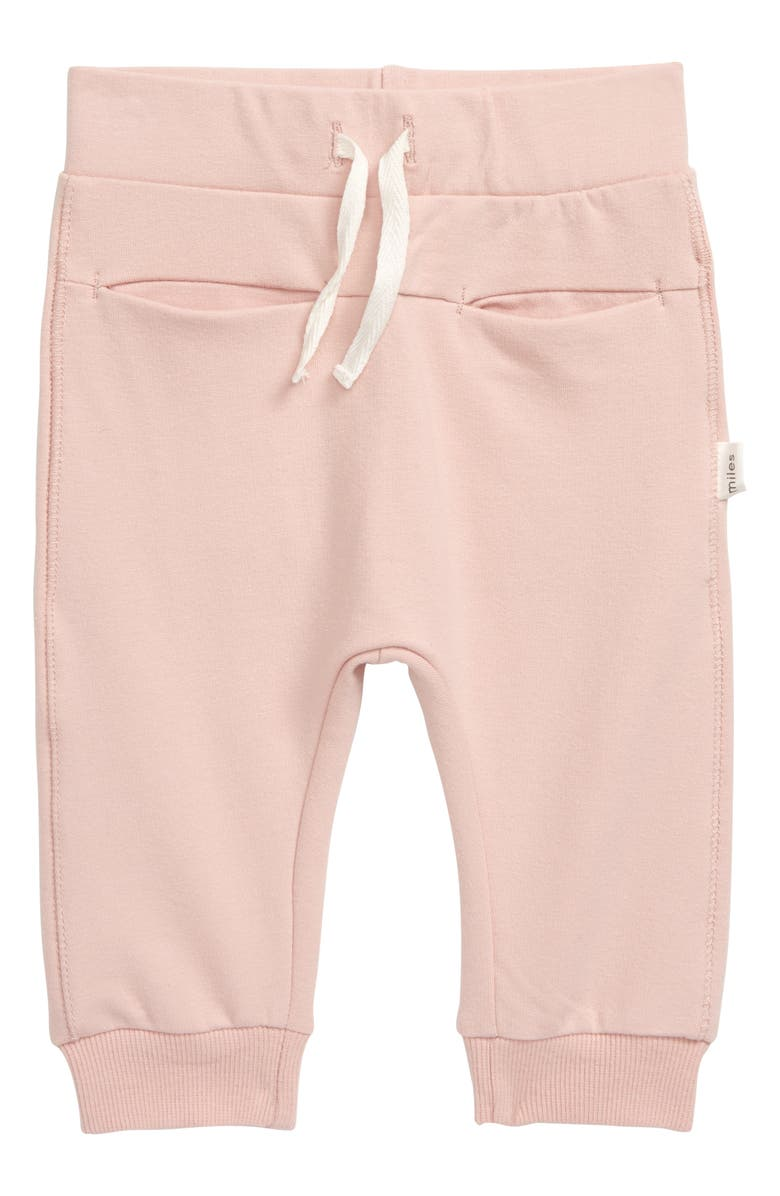 MILES BABY Jogger Pants, Main, color, LIGHT PINK