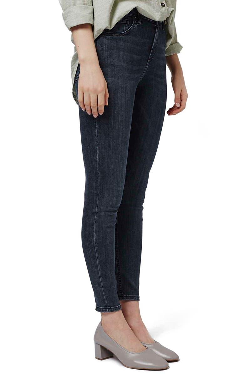 TOPSHOP 'Jamie' High Rise Skinny Jeans, Main, color, 410