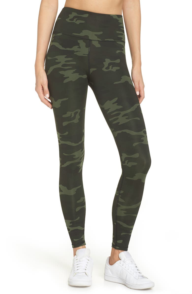 GOOD AMERICAN Core Strength High Waist Leggings, Main, color, CAMO001