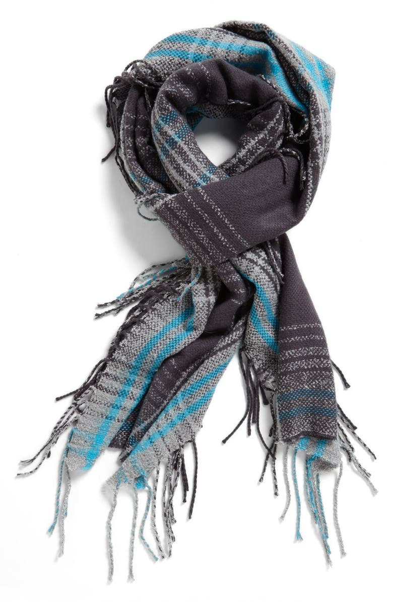 MICHAEL STARS 'Ragged Plaid' Scarf, Main, color, 400