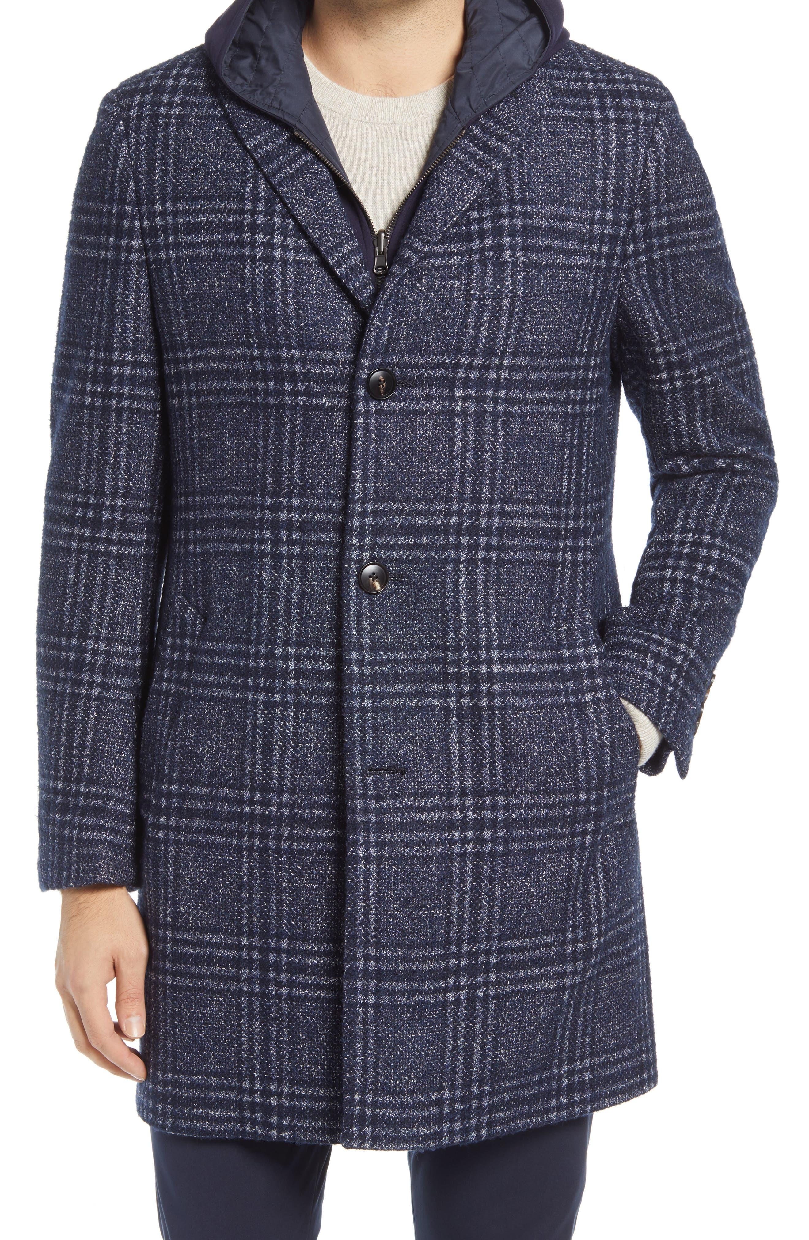 Spencer Plaid Wool Blend Overcoat