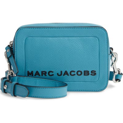 Marc Jacobs The Box Leather Crossbody Bag - Blue
