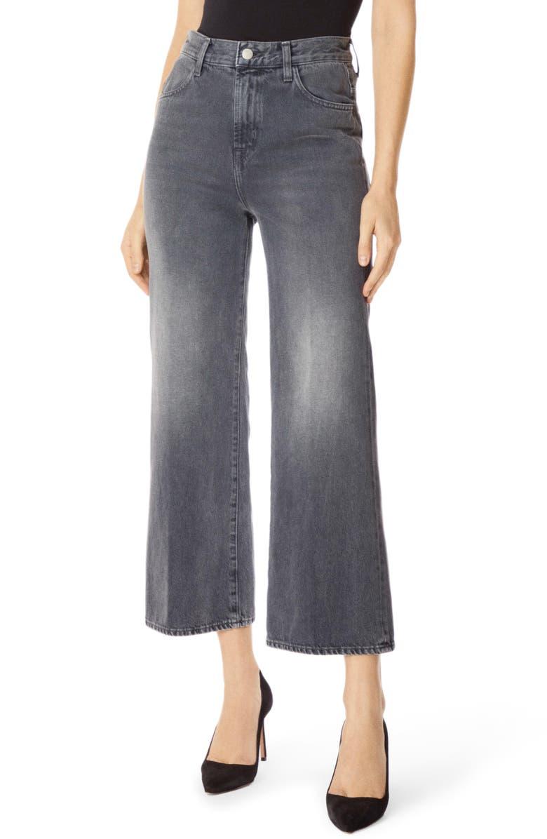 J BRAND Joan High Waist Crop Wide Leg Jeans, Main, color, HAVEN