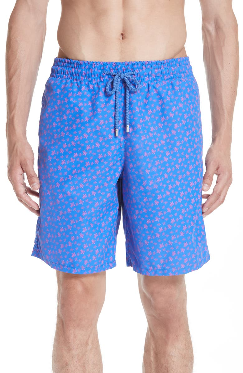 VILEBREQUIN Micro Ronde Turtle Print Swim Trunks, Main, color, BLUE