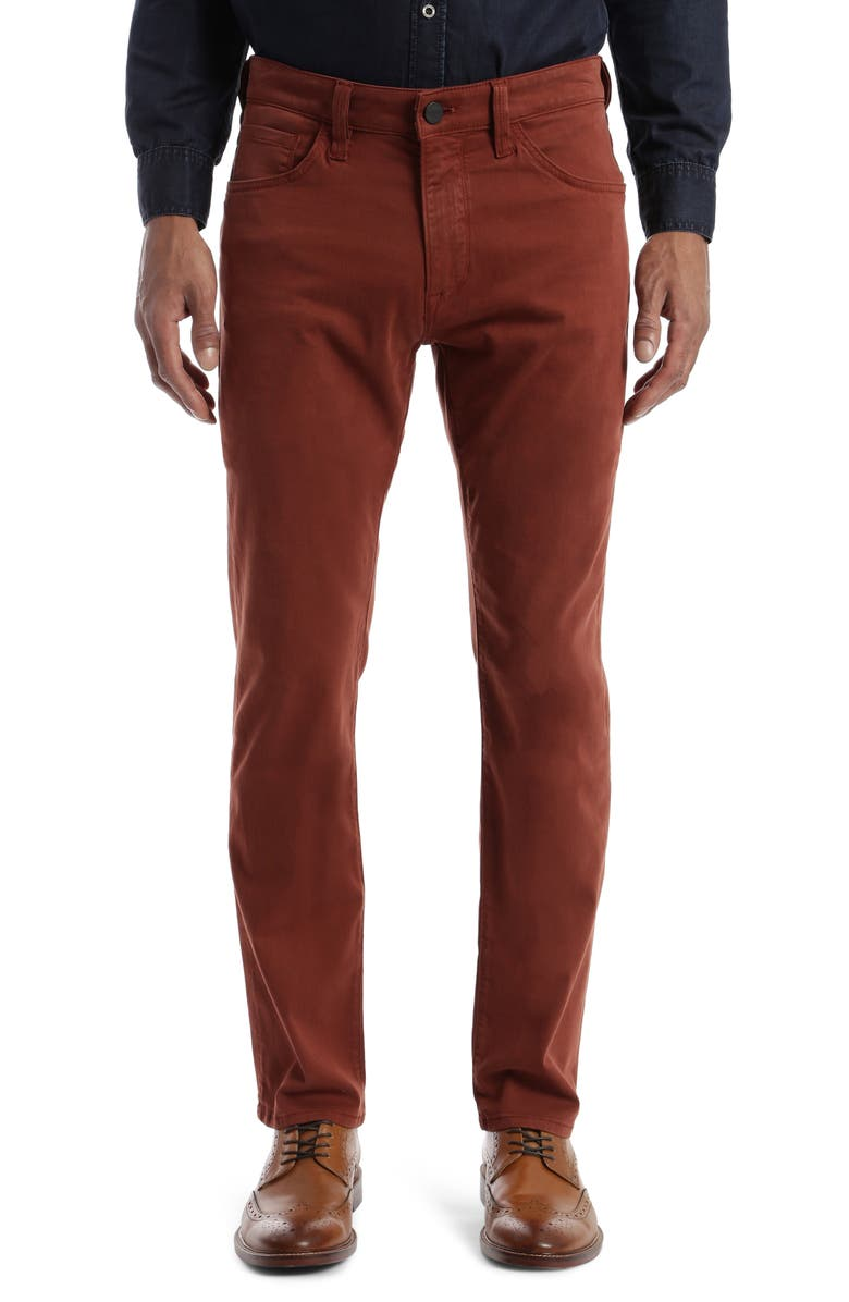 34 HERITAGE Courage Straight Leg Pants, Main, color, RUST TWILL