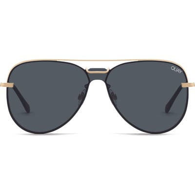 Quay Australia Notorious 5m Aviator Sunglasses - Gold/ Smoke