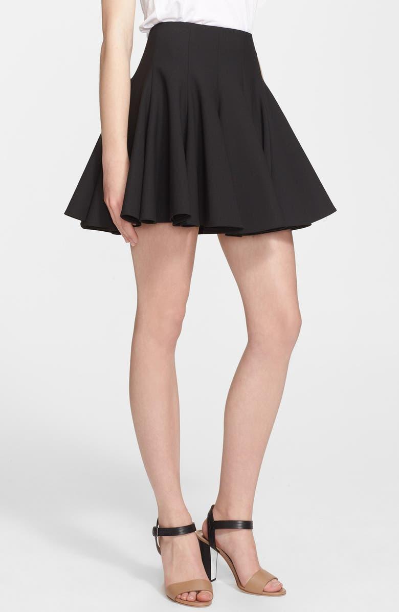 ELIZABETH AND JAMES 'Morrison' Flared Stretch Skirt, Main, color, 001
