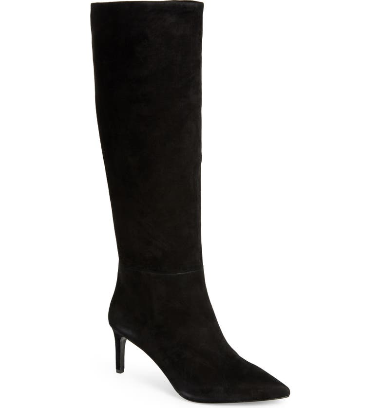 ALICE + OLIVIA Maeven Knee High Boot, Main, color, BLACK