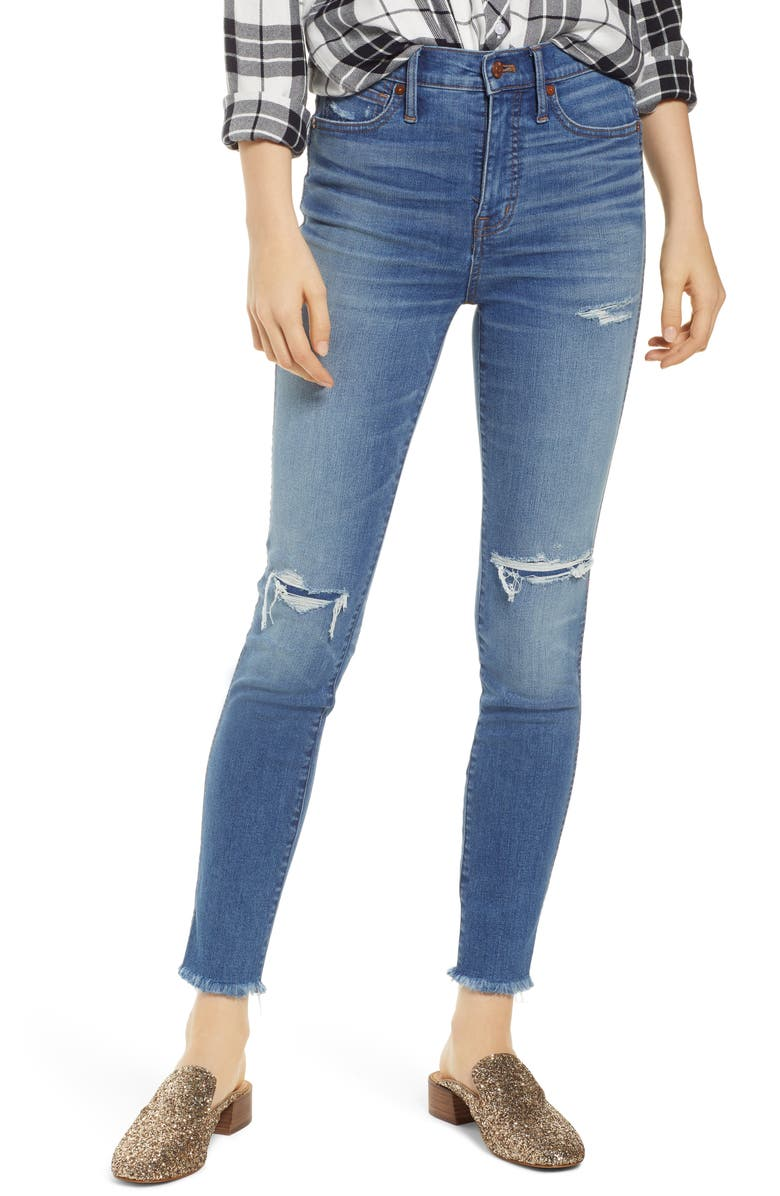 MADEWELL 10-Inch High Rise Skinny Jeans, Main, color, WILSHIRE