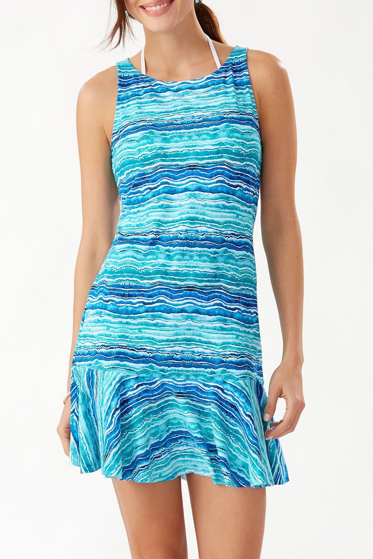 Image of Tommy Bahama Rainbow High Neck Spa Dress
