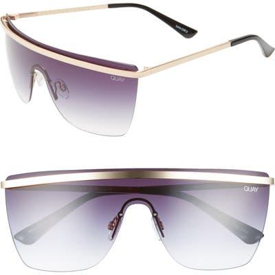 Quay Australia Get Right 5m Flat Top Shield Sunglasses - Gold/ Black Fade