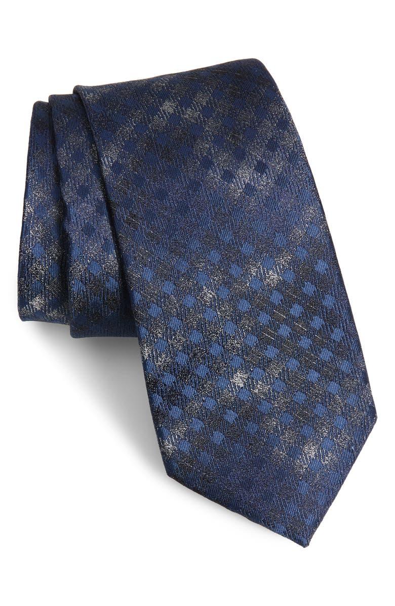 NORDSTROM MEN'S SHOP Stuart Silk Tie, Main, color, 001