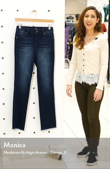 RE:Denim High Waist Raw Hem Jeans, sales video thumbnail