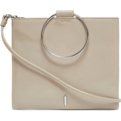 Thacker Le Pouch Ring Handle Leather Shoulder Bag - Grey