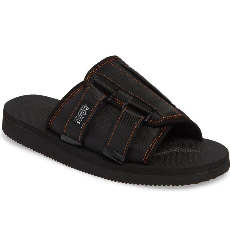 PALM ANGELS Suicoke Slide Sandal, Main, color, 005