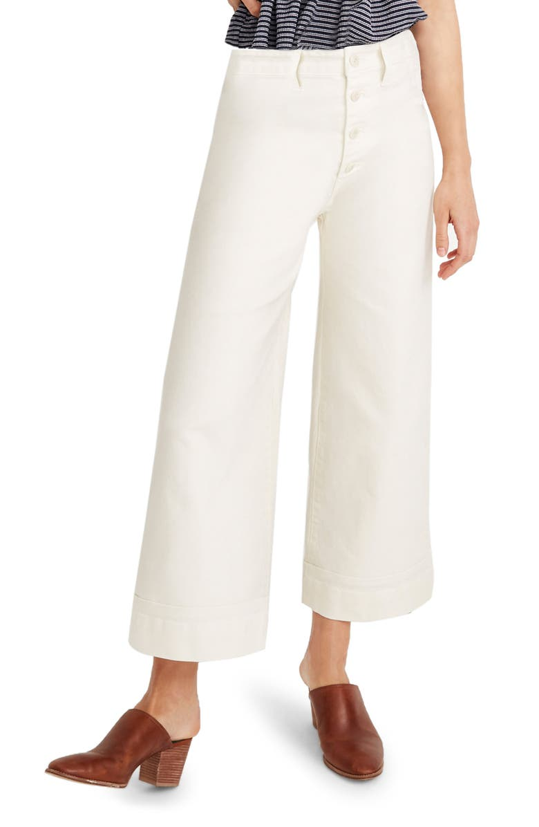 MADEWELL Emmett Crop Wide Leg Pants, Main, color, CLOUD LINING
