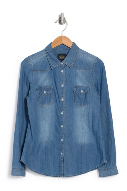 Image of ROYALTY FOR ME Denim Shirt