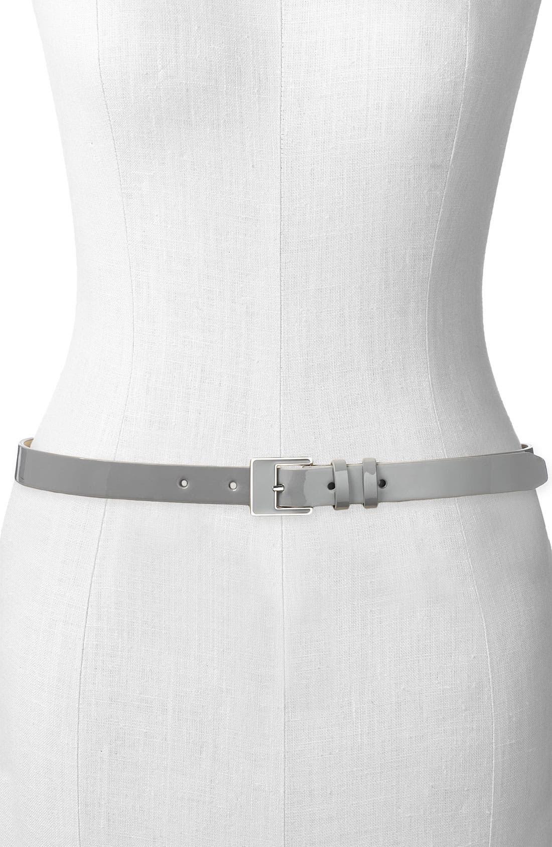 ,                             Patent Leather Belt,                             Main thumbnail 2, color,                             020