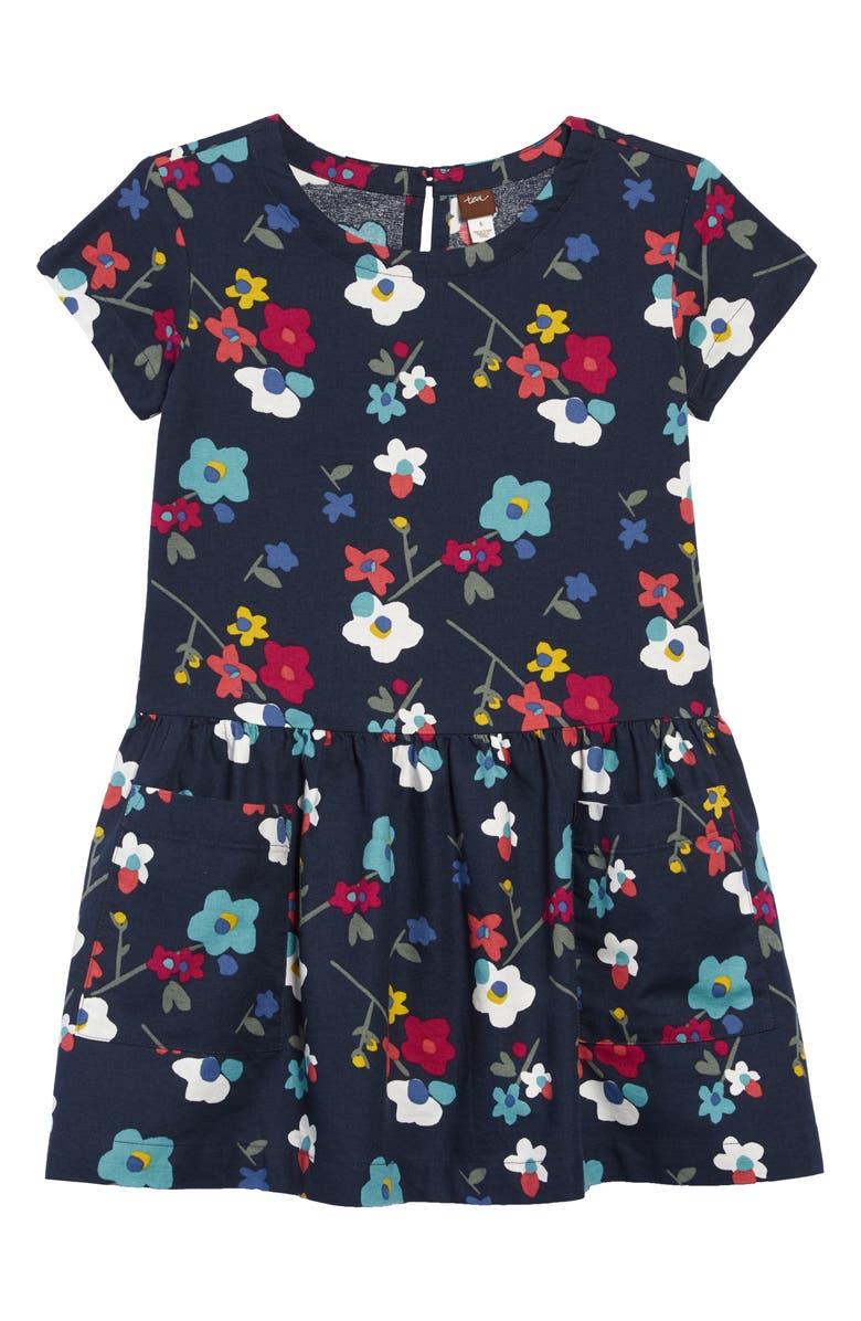 TEA COLLECTION Print Pocket Dress, Main, color, 411