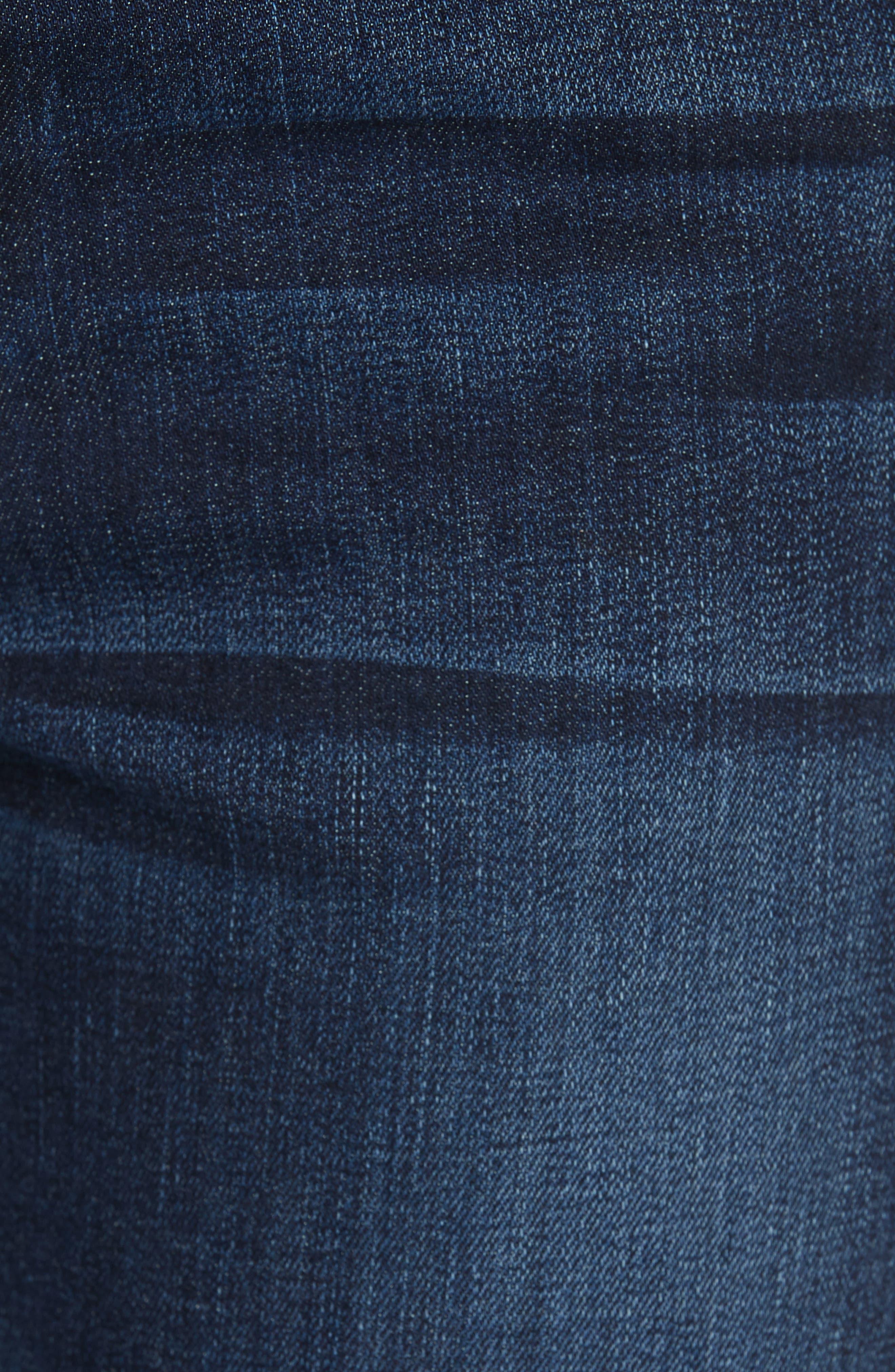 ,                             Le High Straight Snap Away Hem Jeans,                             Alternate thumbnail 6, color,                             401