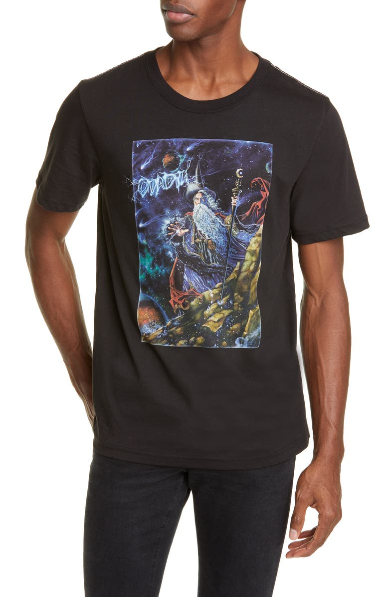 OVADIA Dark Wizard Graphic T-Shirt, Main, color, BLACK