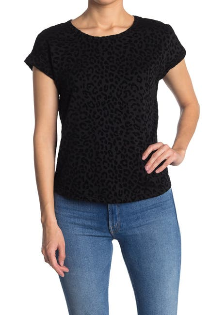 Image of Bobeau Short Sleeve French Terry Top